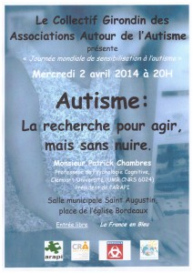 2 avril 2014 Autisme Bordeaux