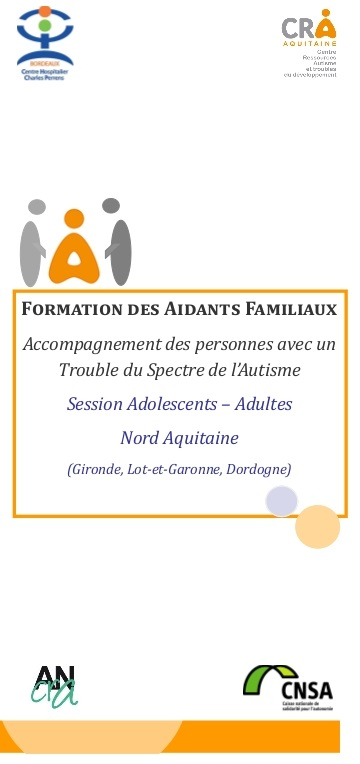 CRA Formation Aidants Familiaux - Plaquette Nord Aquitaine